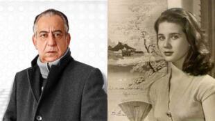 الفنانة المصرية الشهيرة زبيدة ثروت والفنان أحمد راتب