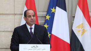 الرئيس المصري عبد الفتاح السيسي في باريس
