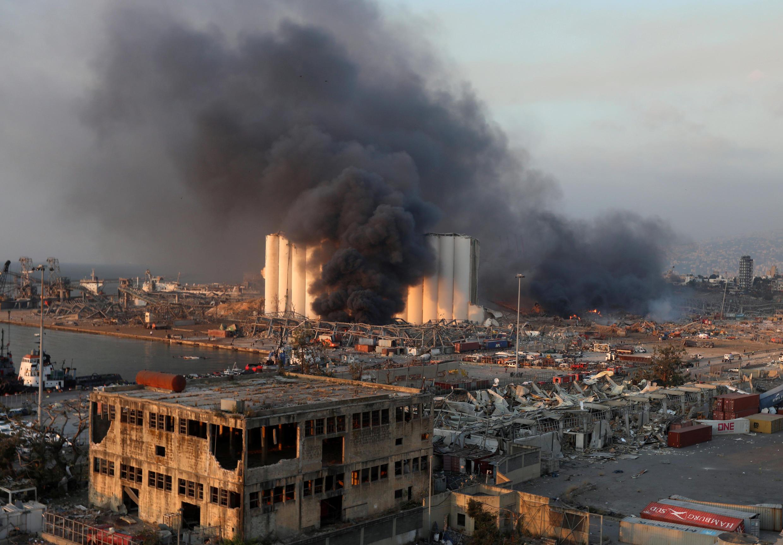 انفجار مرفأ بيروت يوم 4 أغسطس آب 2020