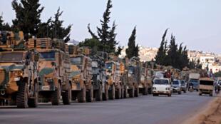 قوات تركية على الحدود مع سوريا يوم 2 مارس/ آذار 2020