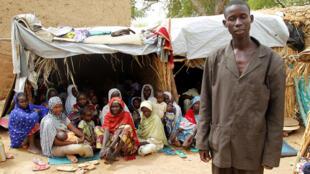 مخيم للنازحين جنوب النيجر، بعد فرارهم من هجمات بوكو حرام في نيجيريا (21-06-2016)
