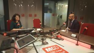 ضيف الحلقة في استوديو مونت كاؤلو الدولية من اليمين باسل سالم ،امل نادر