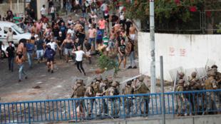 عناصر من الجيش اللبناني في العاصمة بيروت