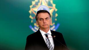 الرئيس البرازيلي جاير بولسونارو في العاصمة برازيليا