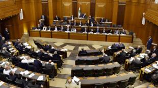 البرلمان اللبناني خلال الجلسة التي عقدها يوم 11 فبراير/ شباط 2020