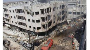 قصف جوي على منطقة إدلب شمال سوريا (12-06-2016)