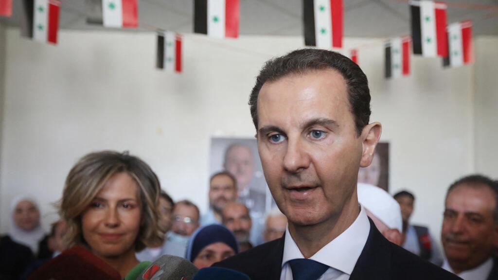 بشار الأسد في مدينة دوما بريف دمشق
