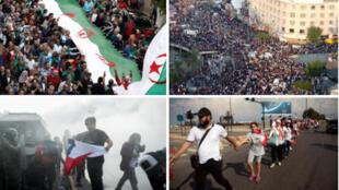 احتجاجات في عدة دول