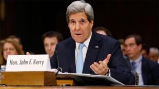 جون كيري أمام لجنة الشؤون الخارجية في مجلس الشيوخ الأميركي في 9 ديسمبر2014