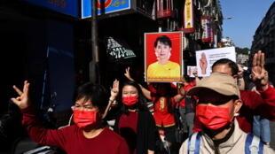 مظاهرات في بورما ضد الانقلاب