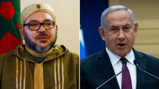 رئيس الوزراء الإسرائيلي ينيامين نتانياهو وملك المغرب محمد السادس
