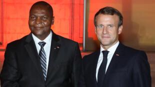 رئيسا جمهوريتي فرنسا وإفريقيا الوسطى في لقاء سابق