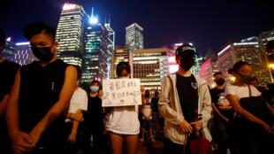 طلاب يتظاهرون في هونغ كونغ