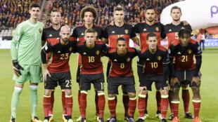 منتخب بلجيكا الذي هزم قبرص بنتيجة 4 أهداف لصفر يوم 10 اكتوير 2017
