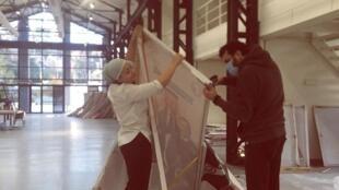 Recyclage panneaux en art