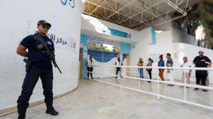 أحد مراكز الاقتراع في تونس