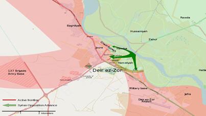 خريطة سوريا تظهر دير الزور