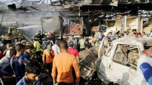 انفجار شاحنة مفخخة في سوق من أسواق بغداد