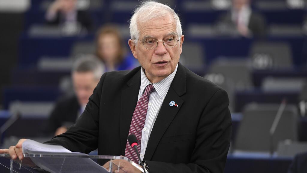 جوزيف بوريل، الممثل الأعلى للاتحاد الأوروبي للأمن والخارجية، مقر البرلمان الأوروبي، ستراسبورغ