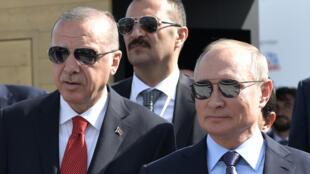 أردوغان وبوتين في معرض موسكو للطيران  يوم 27 أغسطس 2019