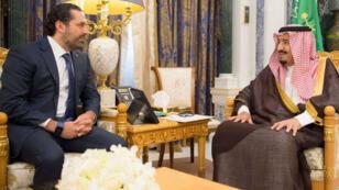 سعد الحريري في لقاءه اليوم مع العاهل السعودي سلمان بن عبد العزيز