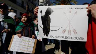 صورة من تظاهرات الطلاب رفضاً لقرارات بو تفليقة