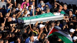 تشييع جثمان الشاب محمد طاه، مدينة كفر قاسم، إسرائيل (06-06-2017)