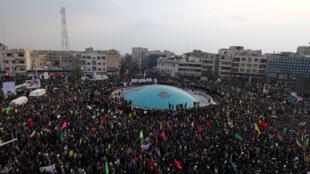 مؤيدون للحكومة الايرانية في طهران