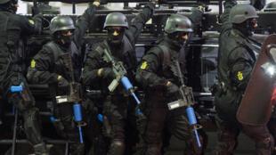 عناصر من شرطة مكافحة الإرهاب في المغرب