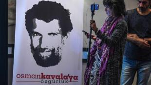من حملة التضامن مع عثمان كافالا في اسطنبول