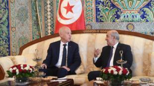 الرئيسان التونسي والجزائري