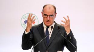 رئيس الوزراء الفرنسي جان كاستيكس يعرض خطة الإنعاش الاقتصادي في باريس