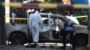 مكان وقوع التفجير الانتحاري في العاصمة التونسية (27/06/2019)