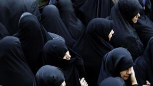 ايرانيات خلال تظاهرة