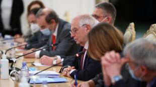 وزير خارجية الاتحاد الأوروبي جوزيب بوريل في موسكو