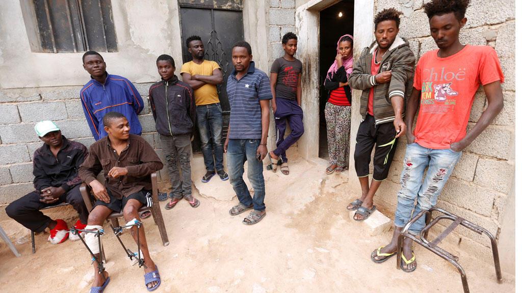 مهاجرون في منزل بمدينة بني الوليد