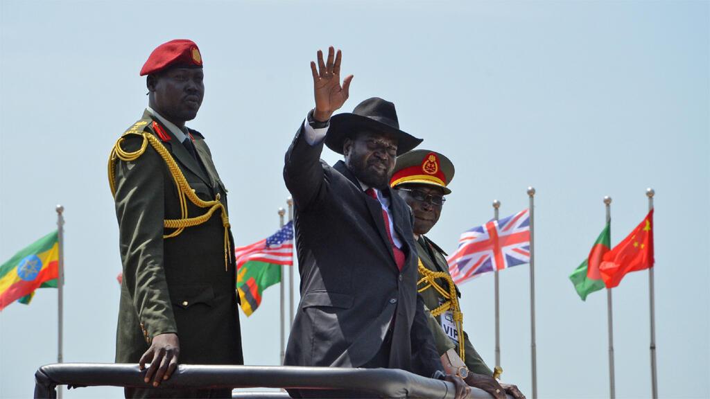سلفا كير خلال احتفلال باستقلال جنوب السودان في 9 حزيران 2015