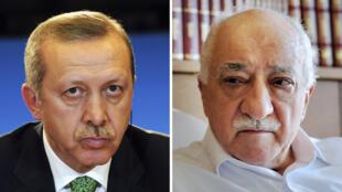 الداعية التركي فتح الله غولن والرئيس رجب طيب إردوغان