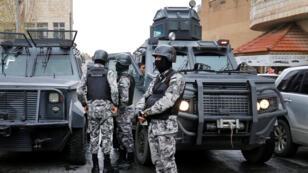 رجال الشرطة في مدينة الكرك- الأردن