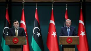 أردوغان والسراج في أنقرة
