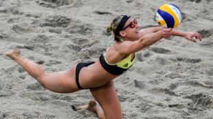 اللاعبة الألمانية كارلا بورغر في دورة ريو دي جانيرو