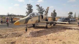الطائرة الحربية الليبية التي حطت في مدنين اضراريا