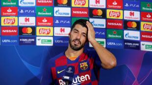 لاعب برشلونة لويس سواريز يوم 8 أغسطس آب 2020
