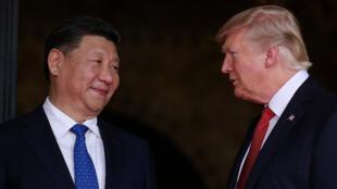 الرئيس الأمريكي دونالد ترامب ونظيره الصيني شي جين بينغ /
