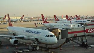 طائرات تابعة للخطوط الجوية التركية
