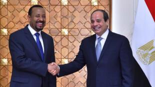الرئيس المصري ورئيس الوزراء الإثيوبي في القاهرة