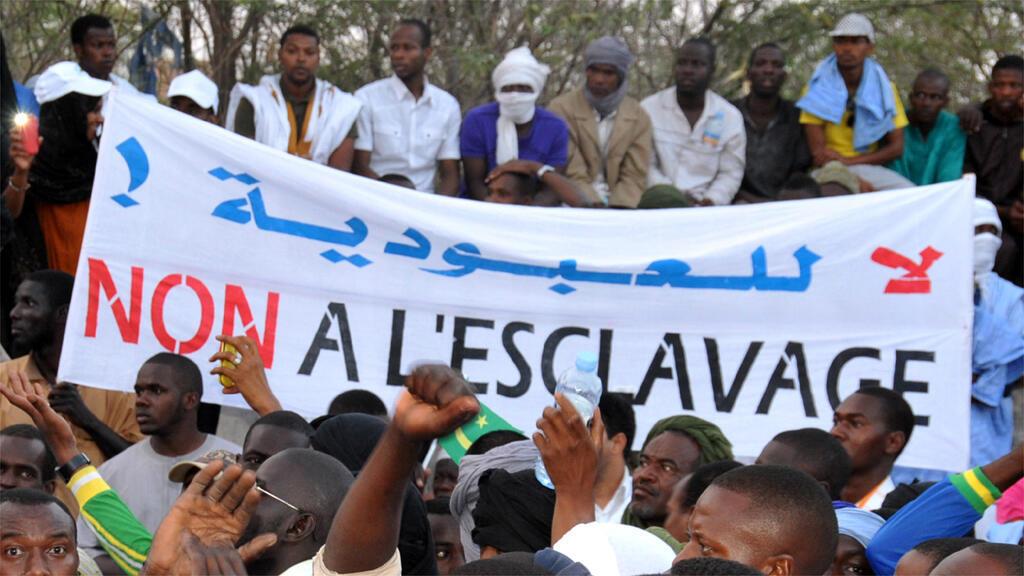 خلال تظاهرة ضد العبودية في نواكشوط في نيسان 2015