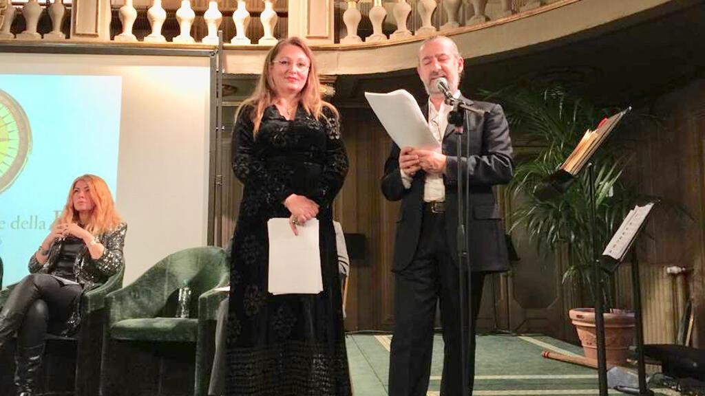 الشاعرة ريم السيد في الأكاديمية العالمية للشعر، فيرونا، إيطاليا