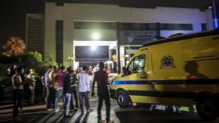 تجمهر مكان وقوع انفجار في القاهرة