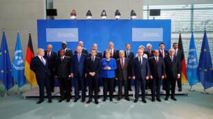 صورة لأعضاء قمة ليبيا في برلين-